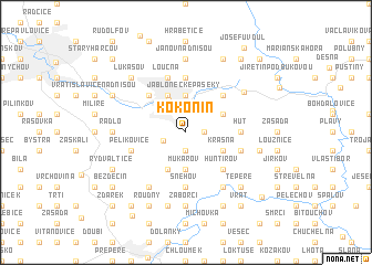 map of Kokonín