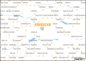 map of Kokoszka
