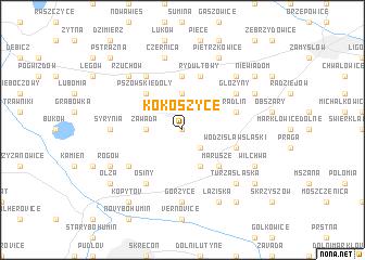 map of Kokoszyce