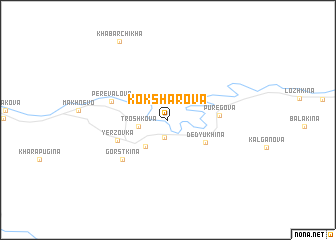 map of Koksharova