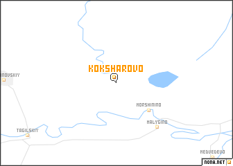 map of Koksharovo