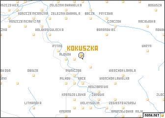 map of Kokuszka