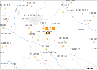 map of Kōlabī
