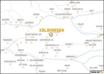 map of Kolā Kardeh