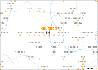 map of Kolanda
