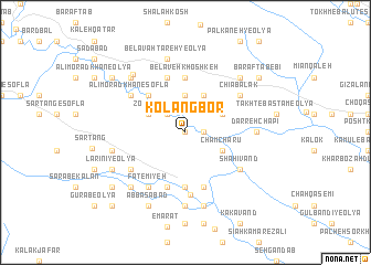 map of Kolang Bor