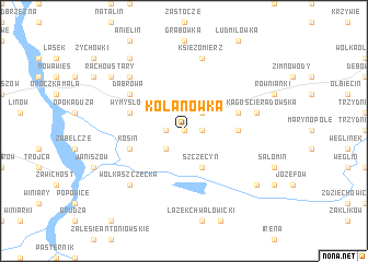 map of Kolanówka