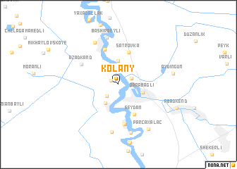 map of Kolany
