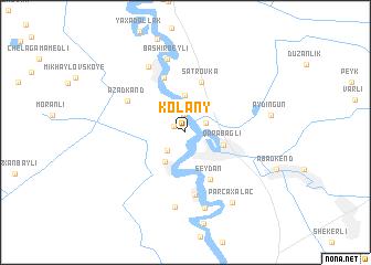 map of Kolany