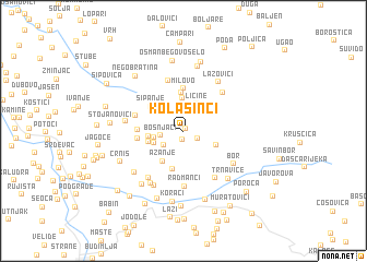 map of Kolašinci