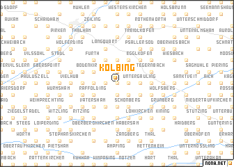 map of Kolbing