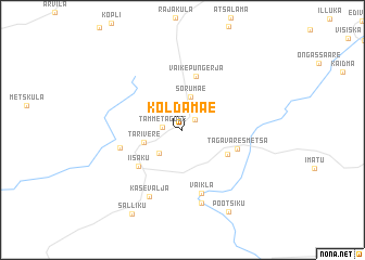 map of Koldamäe