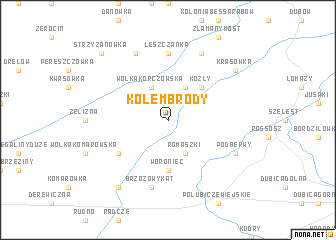 map of Kolembrody