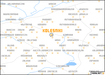 map of Koleśniki