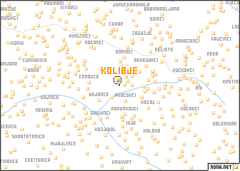 map of Kolibje