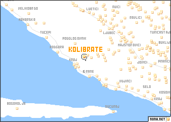 map of Kolibrate