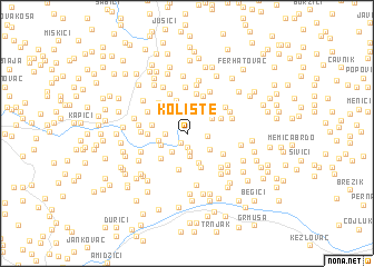 map of Kolište