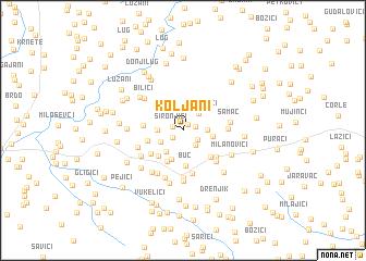 map of Koljani