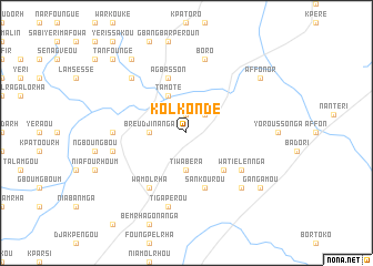 map of Kolkondé