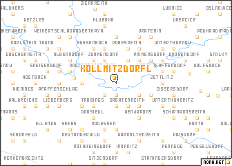 map of Kollmitzdörfl