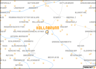 map of Kollnbrunn