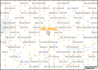 map of Kolmegg