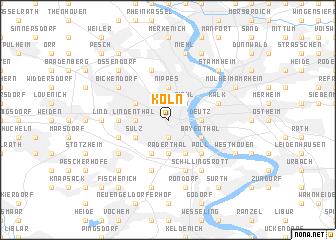 Köln Germany Map Nonanet - Map of koln germany