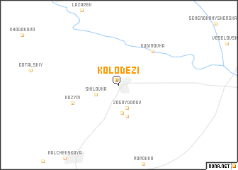 map of Kolodezi