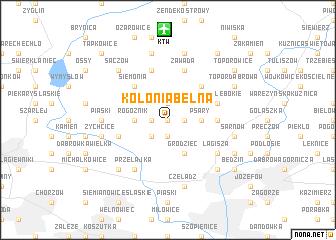 map of Kolonia Belna