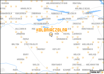 map of Kolonia Czołna