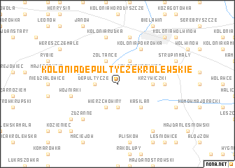 map of Kolonia Depułtycze Królewskie