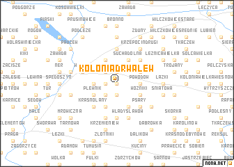 map of Kolonia Drwalew