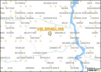 map of Kolonia Glina