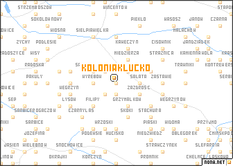 map of Kolonia Kłucko
