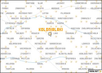 map of Kolonia Łąki