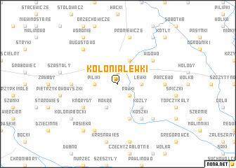 map of Kolonia Lewki