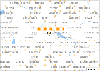 map of Kolonia Lubień