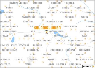map of Kolonia Lubień