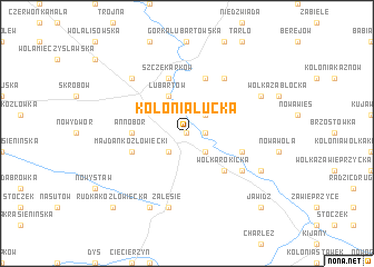 map of Kolonia Łucka