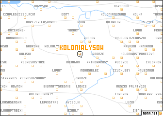 map of Kolonia Łysów