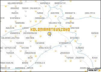 map of Kolonia Mateuszowo