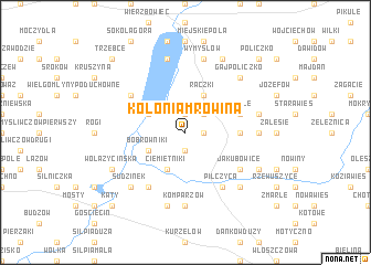 map of Kolonia Mrowina