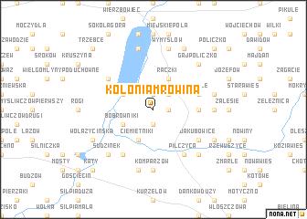 map of Kolonia Mrowina