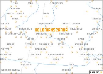 map of Kolonia Mszanna