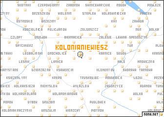 map of Kolonia Niewiesz