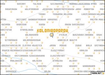 map of Kolonia Oporów
