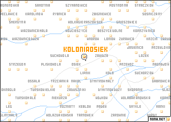 map of Kolonia Osiek