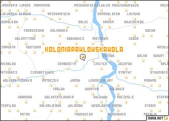 map of Kolonia Pawłowska Wola