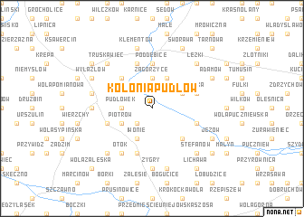 map of Kolonia Pudłów
