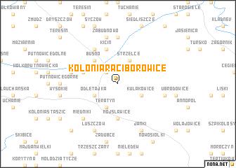 map of Kolonia Raciborowice